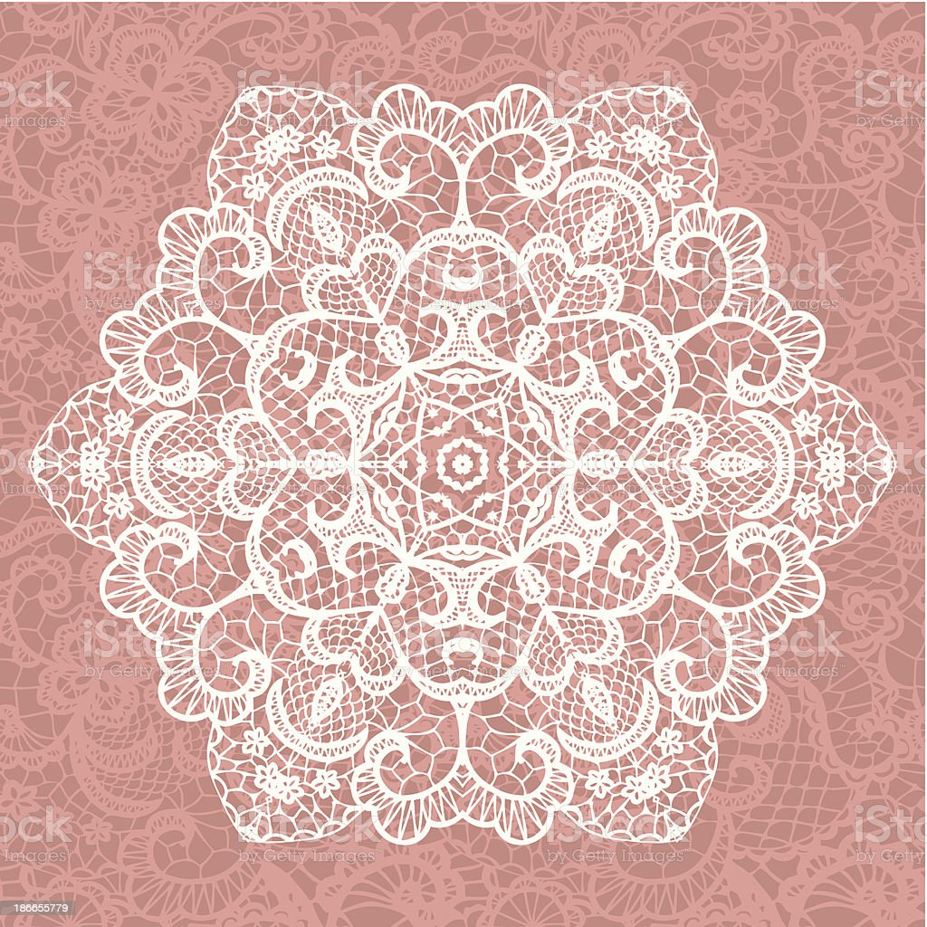 Elegant lacy doily. Vector snowflake. royalty-free stock vector art