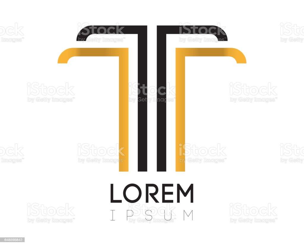 Elegant Letter T Design Royalty Free Stock Vector Art Amp