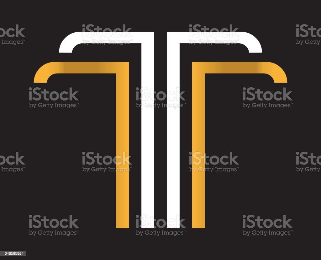 Royalty Free Silhouette Of The Fancy Letter T Clip Art Vector