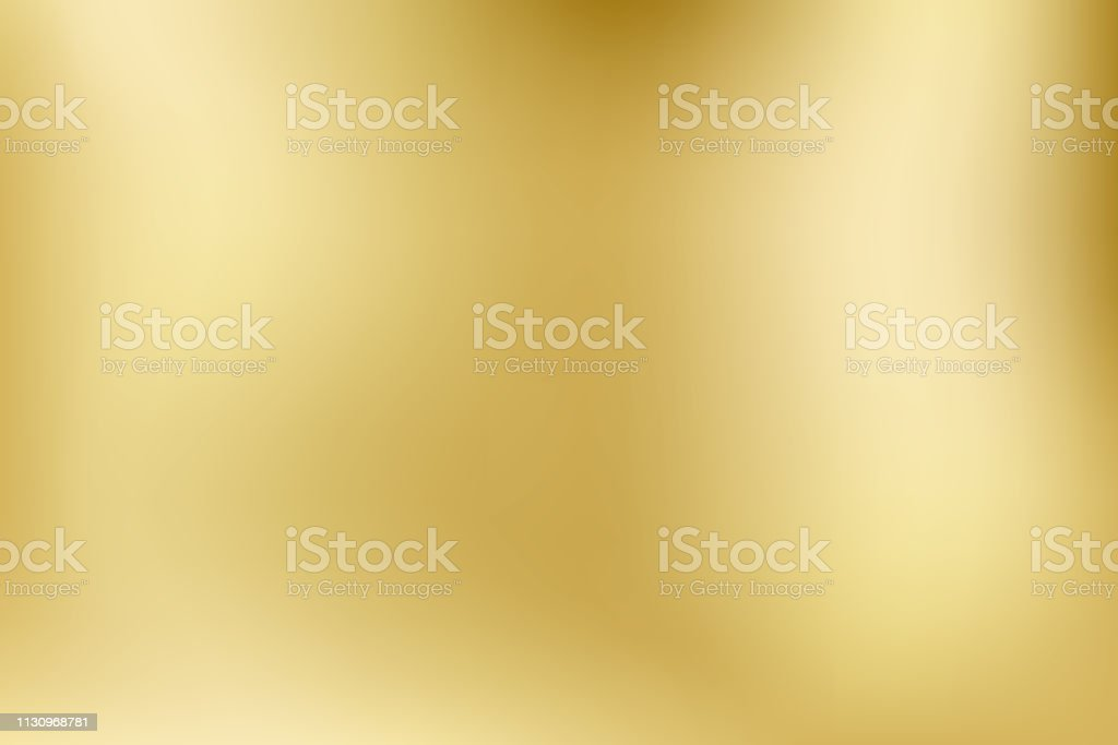 Elegant light and shine.Vector gold blurred gradient style background. Texture abstract metal holographic backdrop. Abstract smooth colorful illustration, social media wallpaper. - Vector - arte vettoriale royalty-free di Acciaio