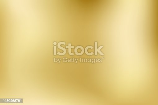 istock Elegant light and shine.Vector gold blurred gradient style background. Texture abstract metal holographic backdrop. Abstract smooth colorful illustration, social media wallpaper. - Vector 1130968781