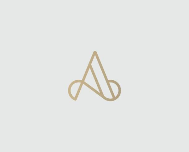 Elegant line curve vector emblemtype. Premium letter A emblem design. Luxury linear creative monogram. vector art illustration