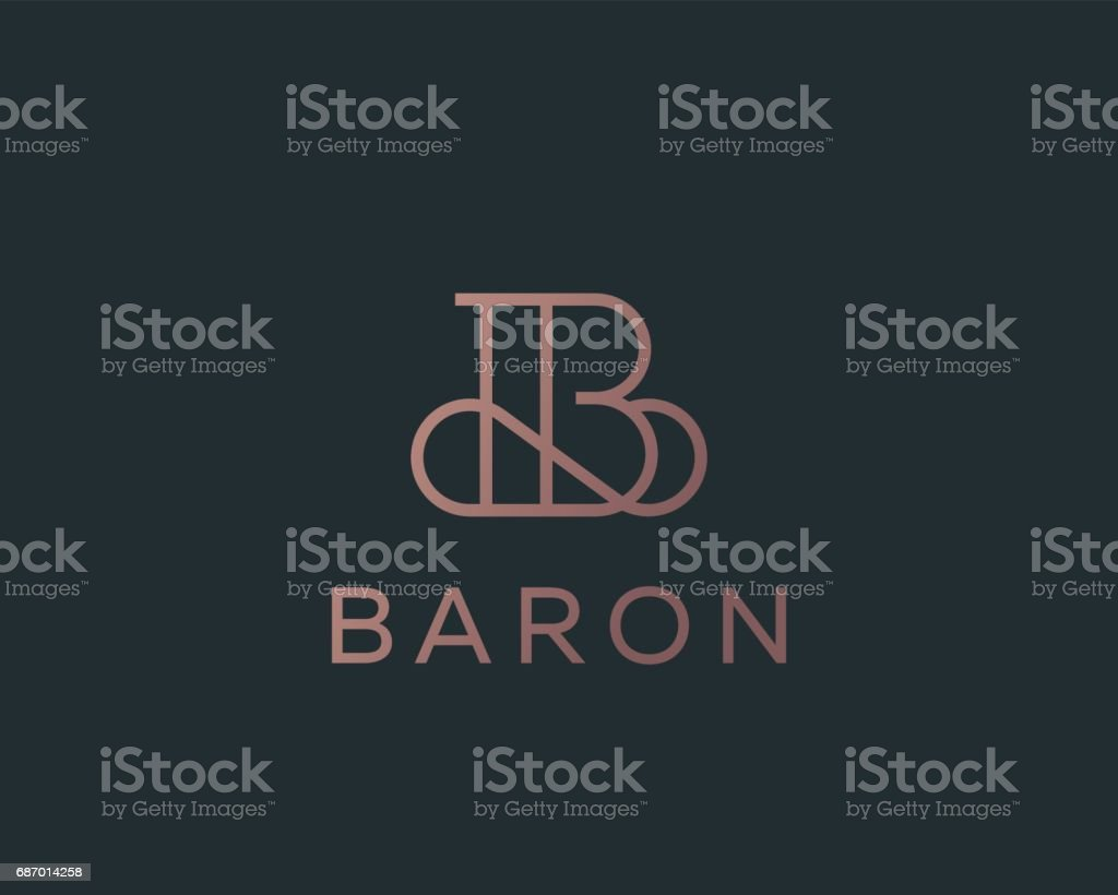 Elegant line curve vector icon. Premium letter B icon design. Luxury linear creative monogram. vector art illustration