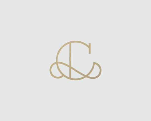 Elegant line curve vector icon. Premium letter C icon design. Luxury linear creative monogram. vector art illustration