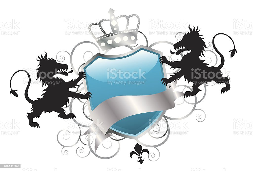 Elegant Lion Insignia royalty-free elegant lion insignia stock vector art & more images of abstract