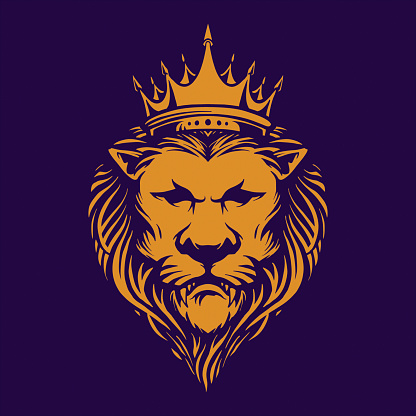 Elegant Lion King Royal Logo Company illustrations for your work Logo, mascot merchandise t-shirt, stickers and Label designs, poster, greeting cards advertising business company or brands.