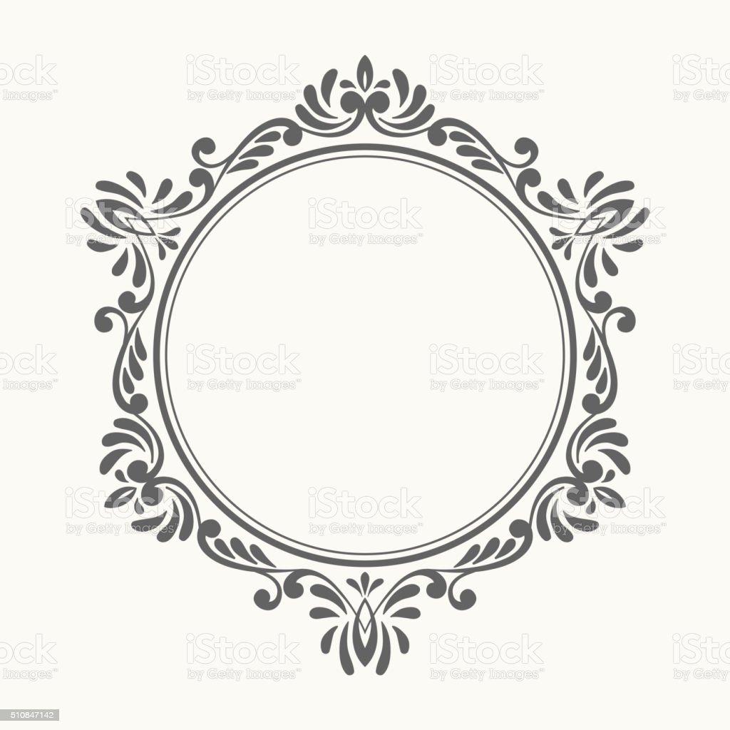elegante moldura floral retr244 de luxo arte vetorial de