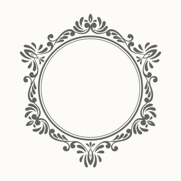 エレガントで豪華なレトロのフレームが表示されます。 - ロココ調点のイラスト素材/クリップアート素材/マンガ素材/アイコン素材