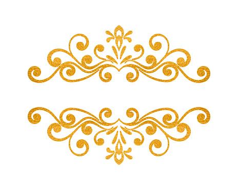 Elegant Luxury Vintage Gold Floral Border Stock ...