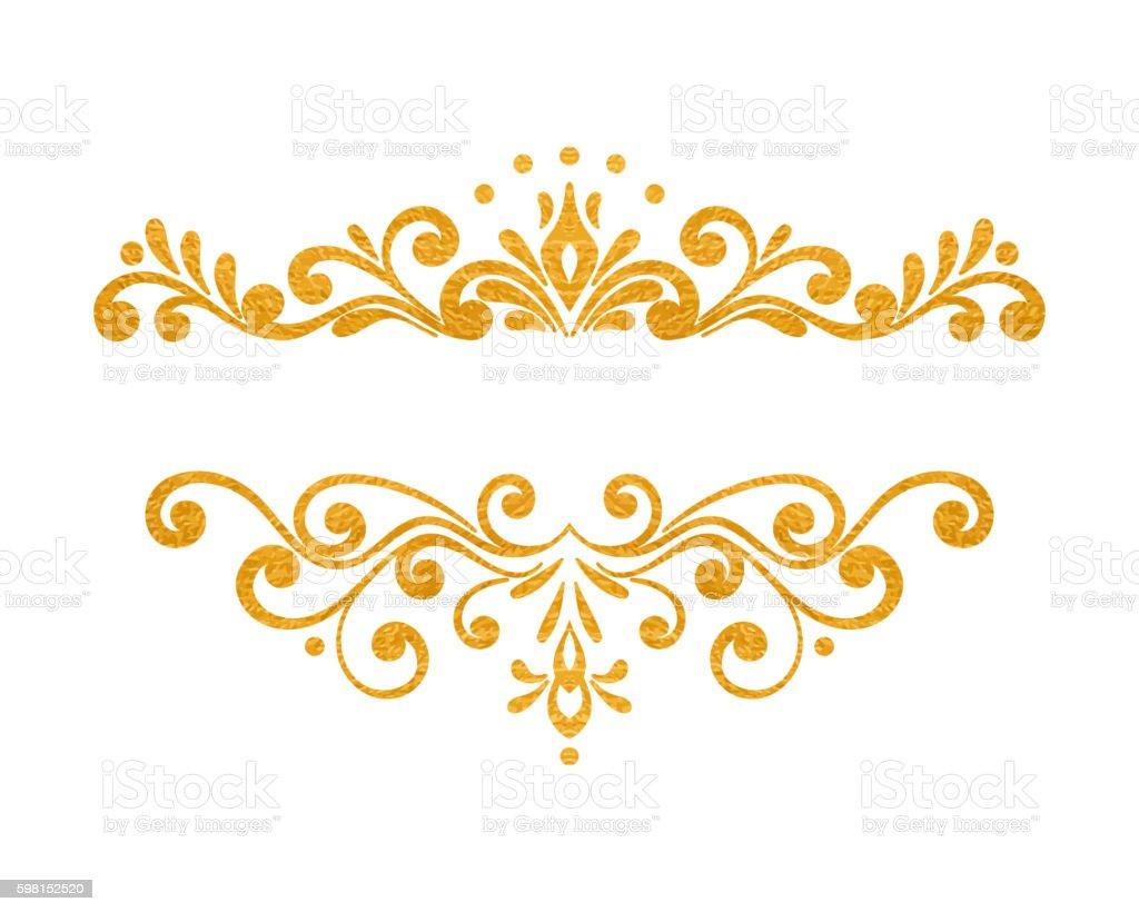 elegant luxury vintage gold floral border stock vector art