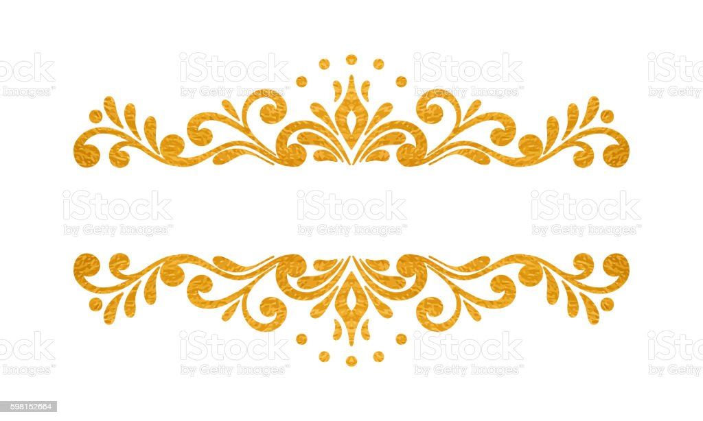 elegant luxury vintage gold floral border stock vector art