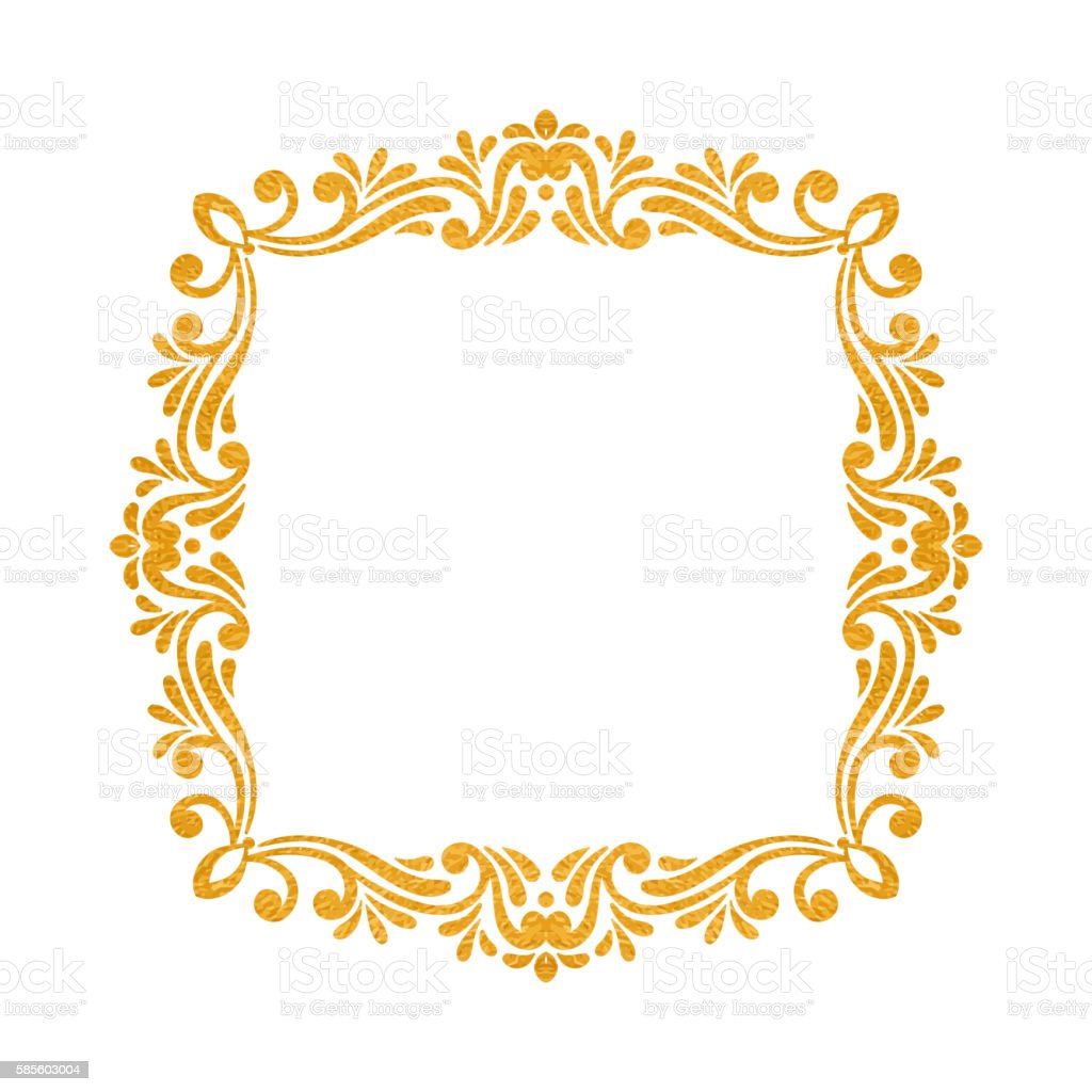 elegant luxury vintage gold floral frame stock vector art