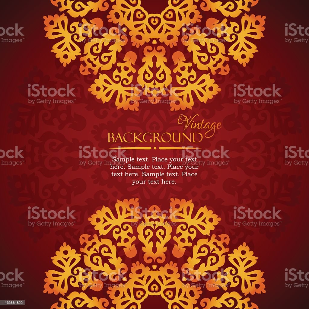Elegant mandala indian invitation template vector art illustration