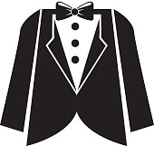 elegant masculine suit clothes icon