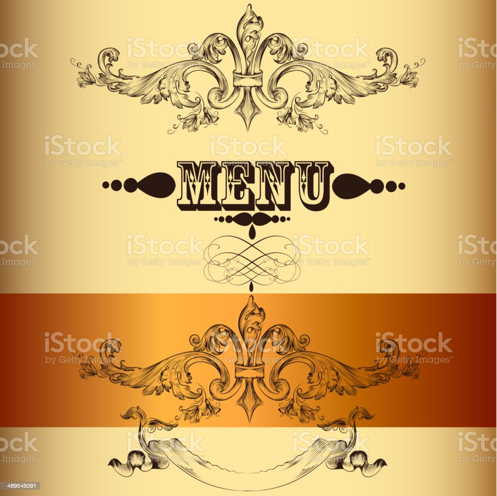 elegant menu design in vintage style stock vector art more images