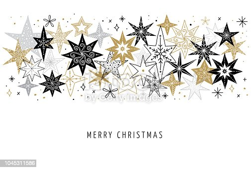 Elegant Christmas Background With Snowflakes Stock Vector: Elegant Merry Christmas Background Banner And Greeting