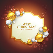 elegant merry christmas festival greeting template with christma
