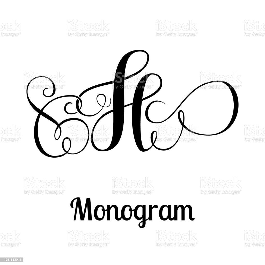 Elegant Monogram Design Letter H Stock Illustration Download Image Now Istock