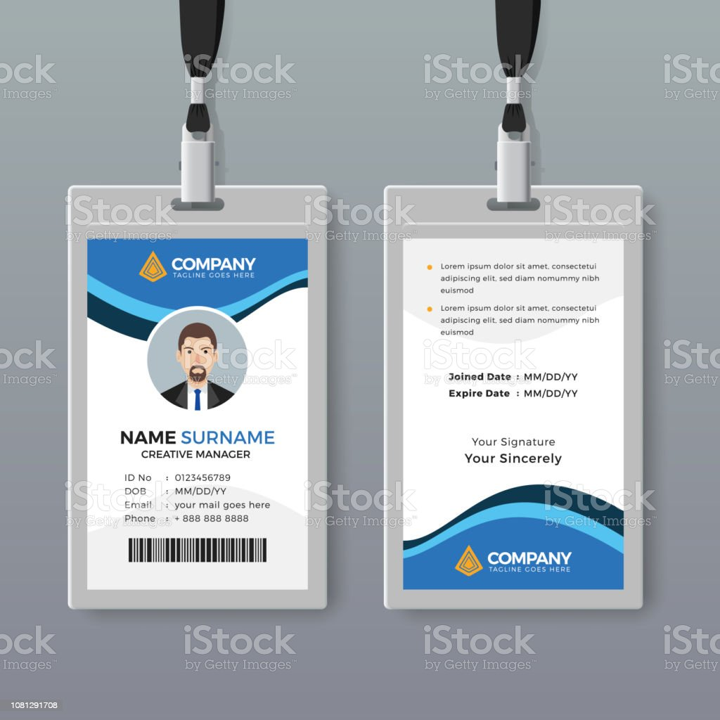 More Details Abstract Id Office Vector Art Stock Design Card Of Blue With - Images Istock amp; Elegant Template
