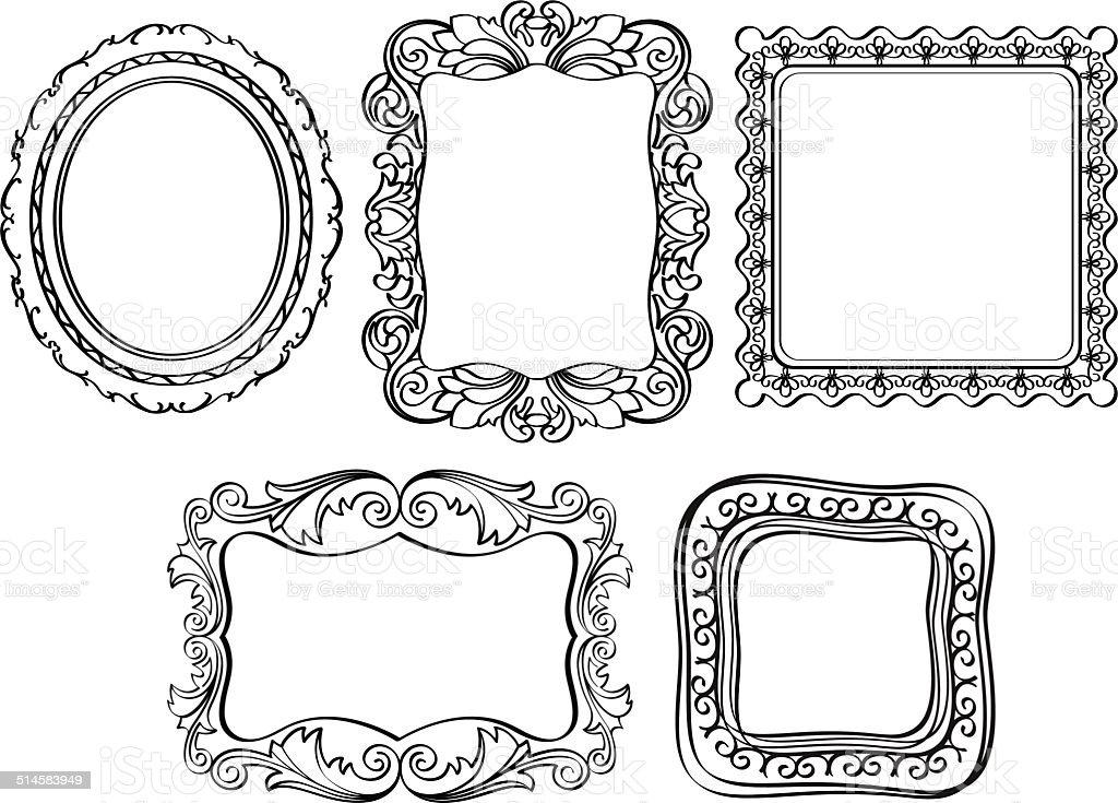 Elegant Ornate Frames Stock Vector Art & More Images of Antique ...