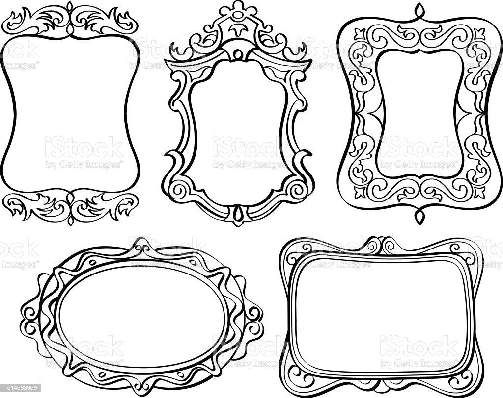Elegante Verzierten Rahmen Stock Vektor Art und mehr Bilder von ...