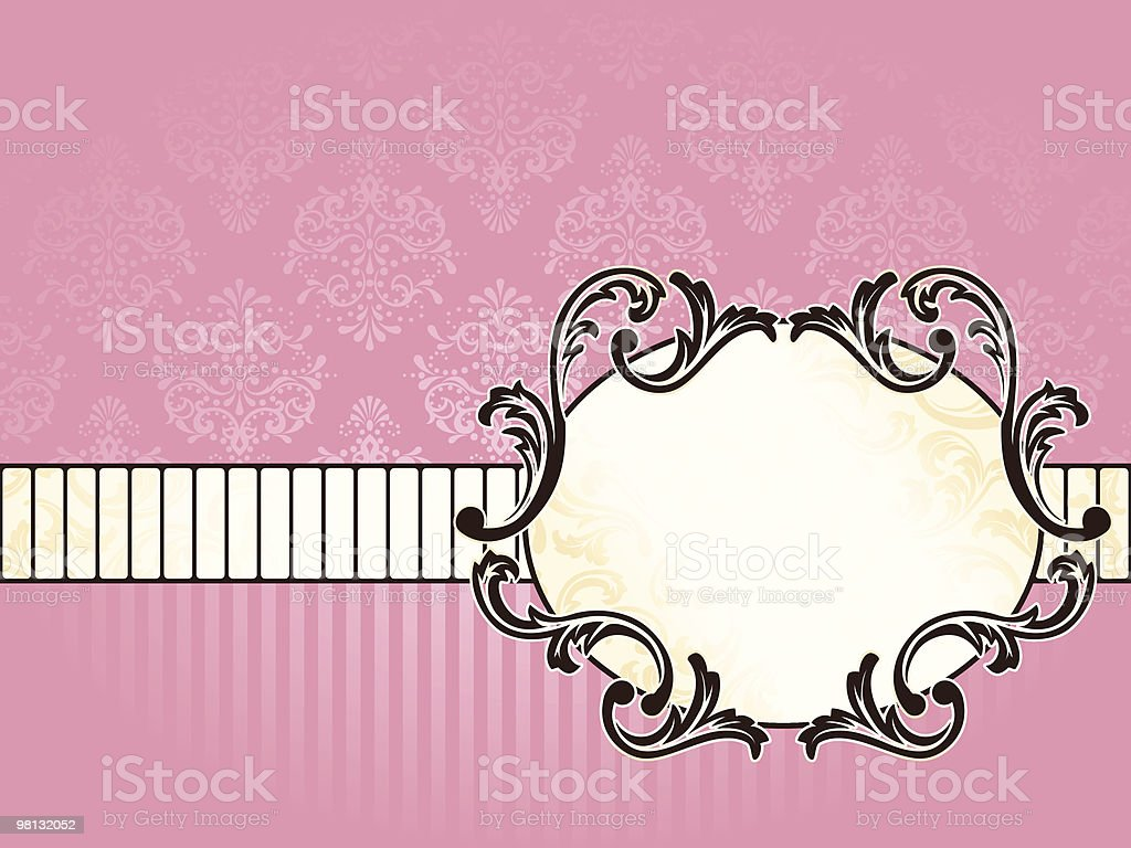 Elegant oval French vintage label, horizontal royalty-free elegant oval french vintage label horizontal stock vector art & more images of backgrounds