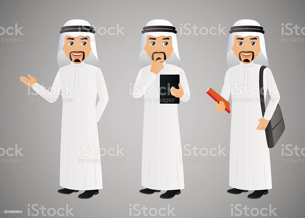 Elegant People-Arab-Businessman vector art illustration