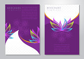 elegant brochure template with provision for image