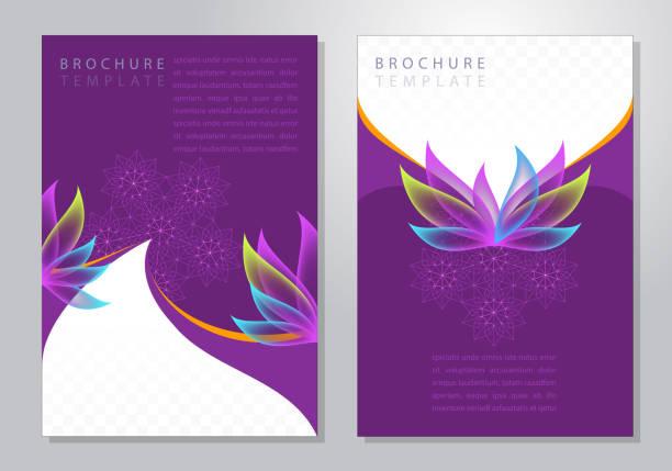 elegant petals brochure - anniversary drawings stock illustrations