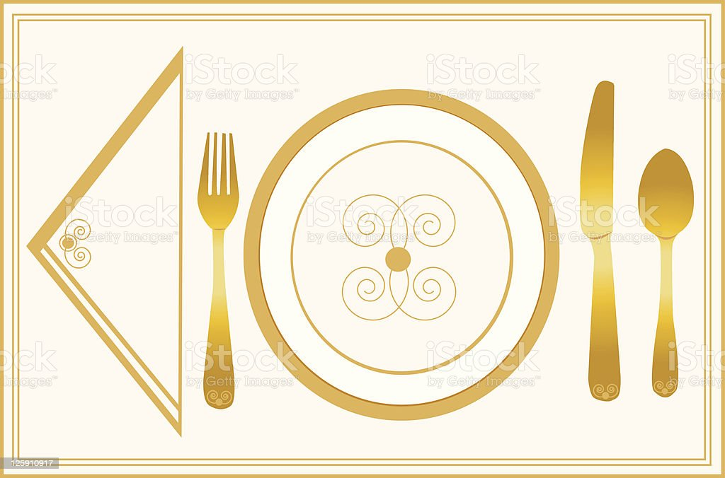 Elegant Placesetting royalty-free stock vector art