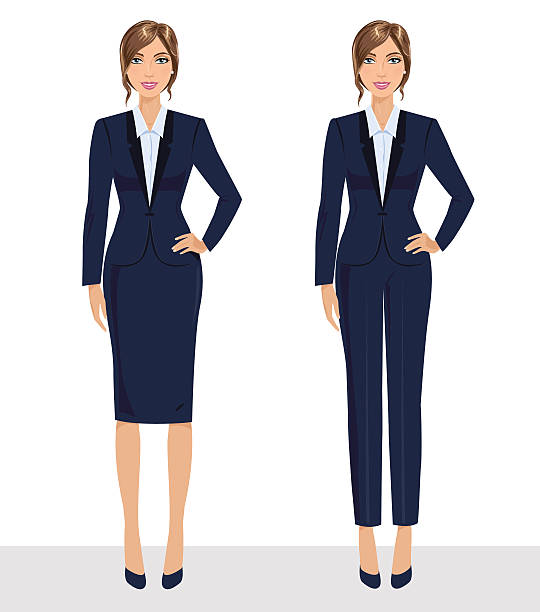 Elegant pretty business woman in formal clothes. – Vektorgrafik
