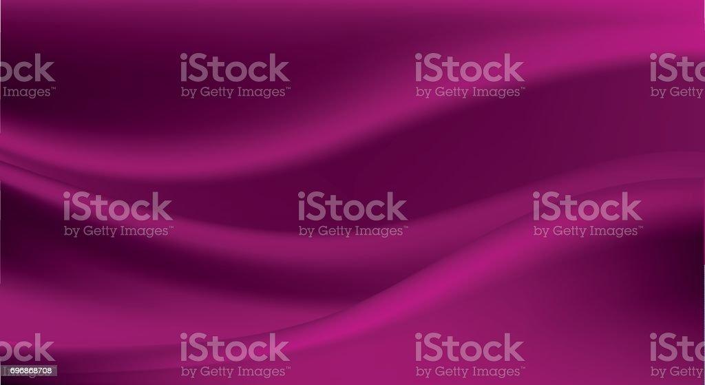 エレガントな紫のシルク、サテンの高級布、抽象的な背景 ベクターアートイラスト