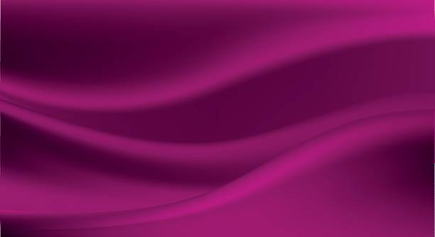 Elegant purple silk, satin luxury cloth, abstract background vector art illustration