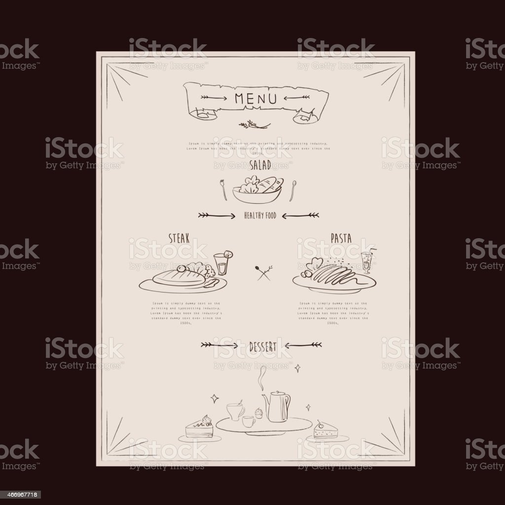 Elegant Restaurant Menu Design Stock Illustration Download Image Now Istock