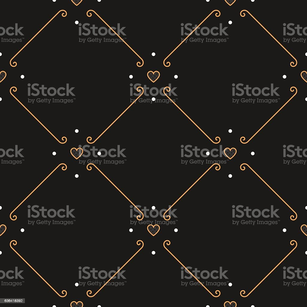 Elegant rhombus seamless pattern Vector square ornament vector art illustration