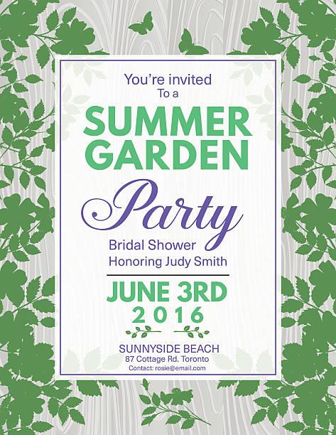エレガントなバラのブライダルシャワーのガーデンパーティの招待状 - ガーデンパーティ点のイラスト素材/クリップアート素材/マンガ素材/アイコン素材
