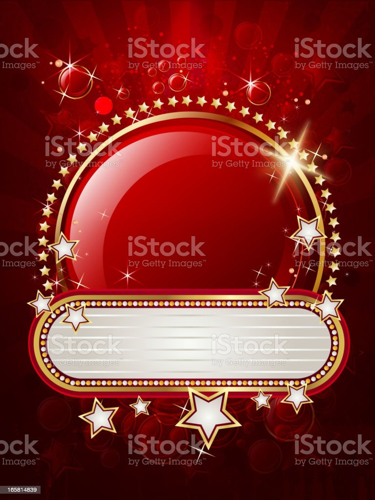 Elegant Round Display with Marquee Banner royalty-free stock vector art