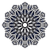 elegant round medallion persian mandala geometric vector islamic background design