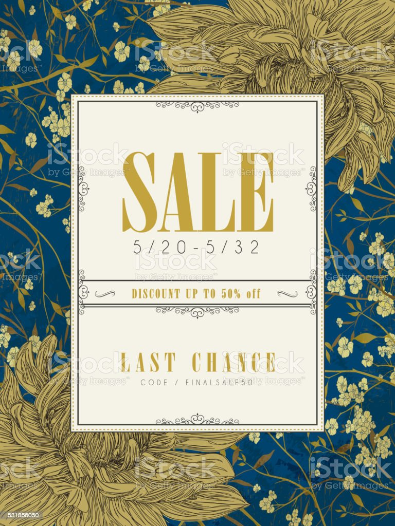 elegant sale poster template design vector art illustration