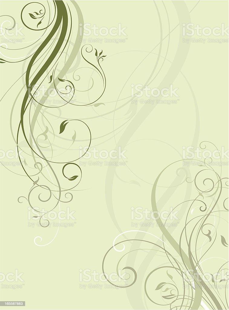 Elegant Scroll background royalty-free stock vector art