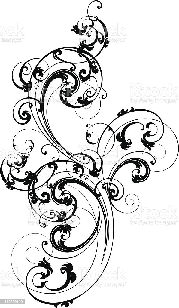 Elegant Scroll Design royalty-free stock vector art