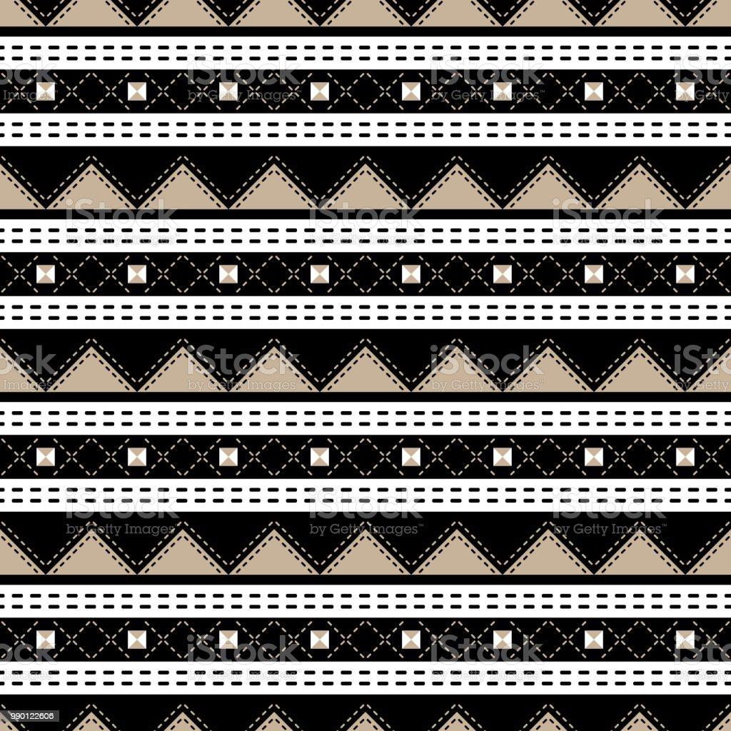 b2120cdf Colores negro, blanco, beige elegante sin fisuras patrón geométrico  ilustración de colores negro blanco