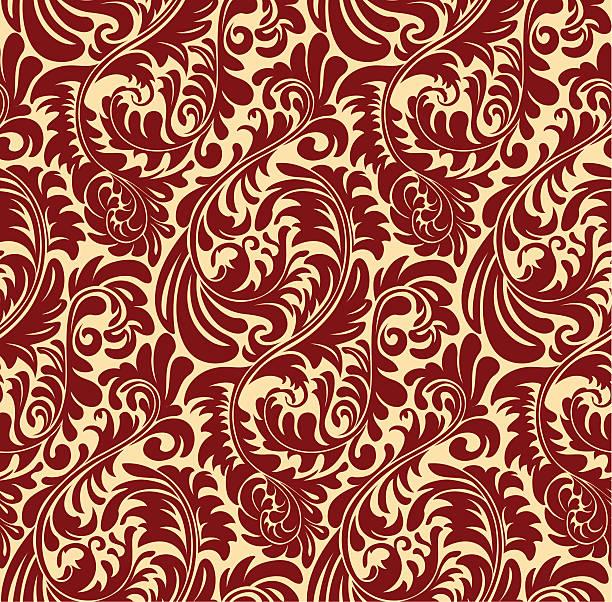 elegante nahtlose orientalischen muster - plüschmuster stock-grafiken, -clipart, -cartoons und -symbole