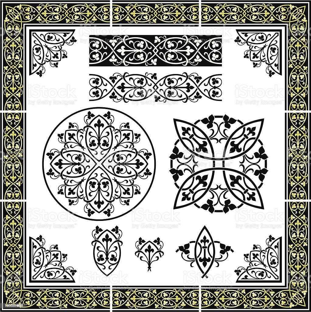 Elegant Seamless Ornament royalty-free stock vector art