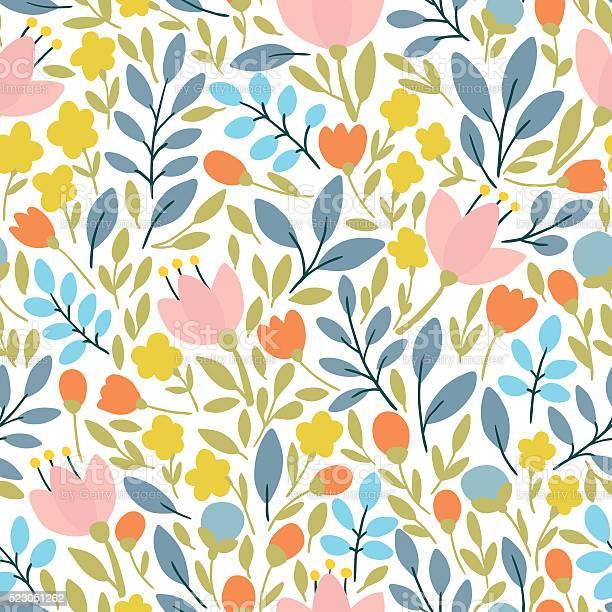 Elegant seamless pattern with flowers vector illustration vector id523051262?b=1&k=6&m=523051262&s=612x612&h=jbpbyr6bwi pi7qsn7ks6aonxs2fuun3uyexi7xxbg8=
