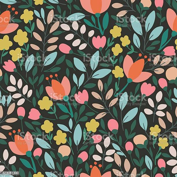 Elegant seamless pattern with flowers vector illustration vector id523051300?b=1&k=6&m=523051300&s=612x612&h=rx23babzuictbxm2zc7n42djtjatnyhev 1um bpygs=