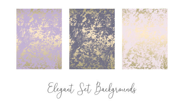 Elegant set of chic trendy abstract marble gold luxury textures. Beautiful backgrounds for advertising, poster, invitations, wallpaper, textile, typography Elegant set of chic trendy abstract marble gold luxury textures. Beautiful backgrounds for advertising, poster, invitations, wallpaper, textile, typography violet flower stock illustrations
