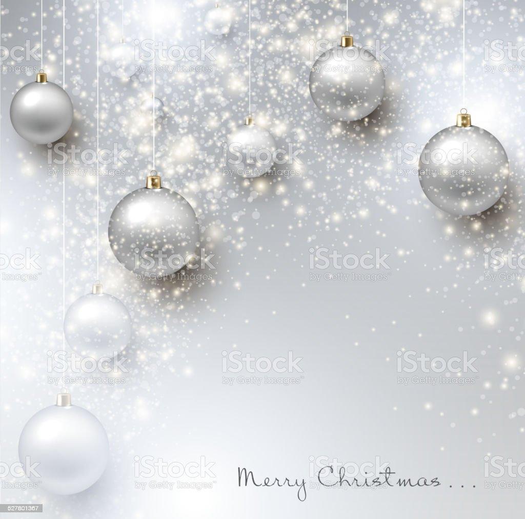Sfondi Natalizi Eleganti.Elegante Sfondo Di Natale Con Brillanti Gingilli E Luogo Per Te