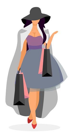 Elegant shopper illustration