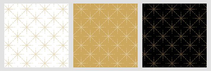 Elegant star pattern for christmas